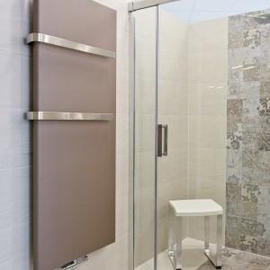 Vzorková koupelna ve studiu Gremis - radiátor a sprcha