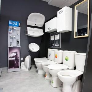 Koupelnové studio Gremis ve Velkém Meziříčí a vystavený sortiment a WC
