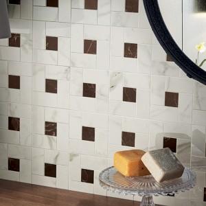 Inspirace koupelnami Alfalux - detail obkladů a dekorace