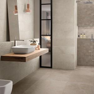 Inspirace koupelnami Ceramiche Supergres - pohled na moderní designovou koupelnu