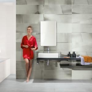 Inspirace koupelnami Rako - moderní obklady a umývací stěna
