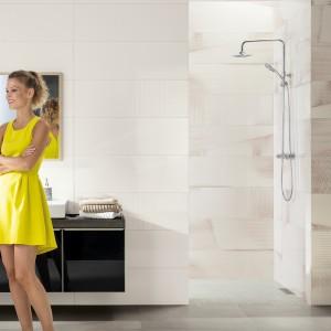 Inspirace koupelnami Rako - světlá koupelna se sprchou