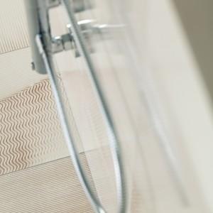 Inspirace koupelnami Rako - detail obkladů a sprchy