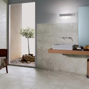 Inspirace koupelnami Alfalux - moderní umývárna u vstupu do zahrady
