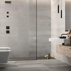 Moderní koupelna Ceramiche Supergres ve světle šedém odstínu