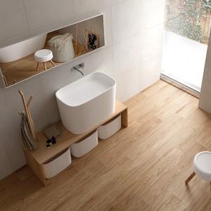 Inspirace koupelnami Alfalux - decentní koupelna se zaoblenými prvky