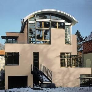 Luxusní moderní vila s fasádou Ceresit