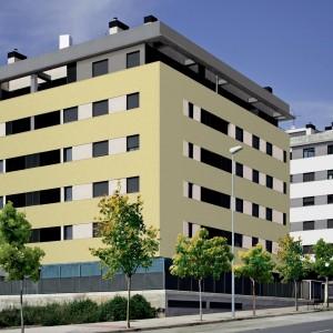 Moderní budova s fasádou Ceresit - vizualizace