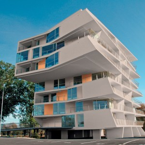 Futuristická budova s fasádou od společnosti Ceresit