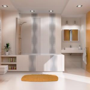 Inspirace koupelnami Paradyż - netypické provedení s hrou barev a prvků
