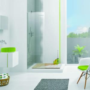 Inspirace koupelnami Paradyż - svěží koupelna se světle zelenými prvky