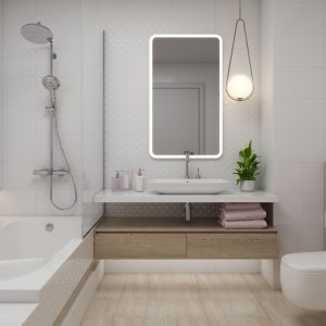 Koupelna s obklady Paradyż - konzervativní design s moderními prvky