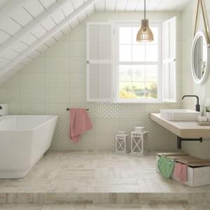 Inspirace koupelnami Paradyż - bílá podkrovní koupelna