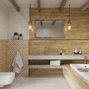 Inspirace koupelnami Paradyż - obklady s imitací dřeva