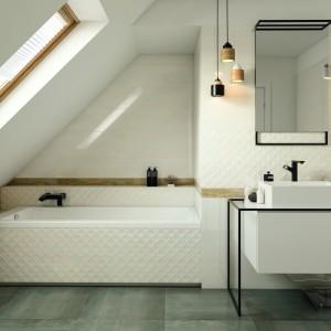 Inspirace koupelnami Paradyż - podkrovní koupelna s elegancí