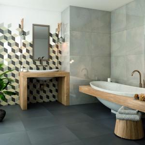 Inspirace koupelnami Paradyż - moderní koupelna s dřevěnými prvky