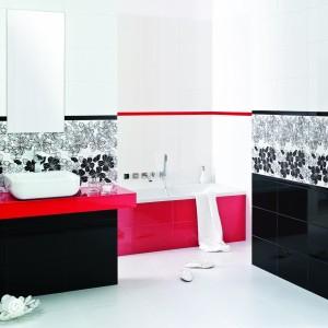 Inspirace koupelnami Paradyż - kontrastní koupelna s vanou