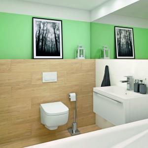 Inspirace koupelnami Paradyż - netradiční barevné provedení koupelny