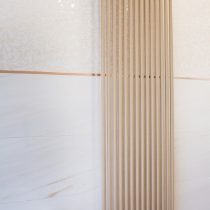 Detail vzorkové koupelny v koupelnovém studiu Gremis - radiátor