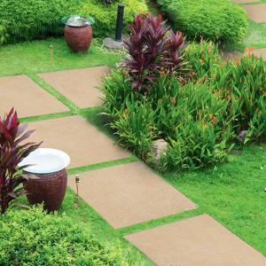 Keramická dlažba Alfalux v nabídce obchodu Gremis - použití u zahradního chodníku
