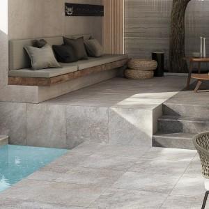 Keramická dlažba Ceramiche Supergres v nabídce obchodu Gremis - kaskádovitá dlažba kolem bazénu
