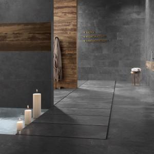 Keramická dlažba Ceramiche Supergres v nabídce obchodu Gremis - tmavá varianta v interiéru