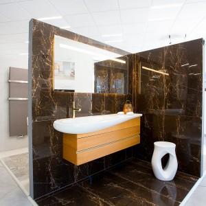 Vzorková koupelna ve studiu Gremis - luxusní dekor