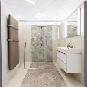 Vzorková koupelna ve studiu Gremis - dispozice celé koupelny