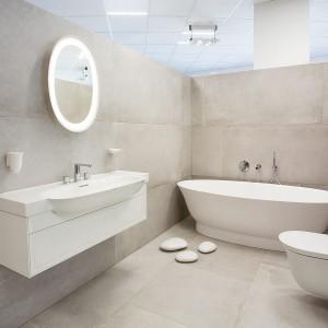 Řešení prvků ve vzorkové koupelně v koupelnovém studiu Gremis ve Velkém Meziříčí